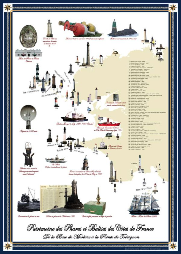 Acheter la carte du patrimoine des Phares et Balises du Finistère