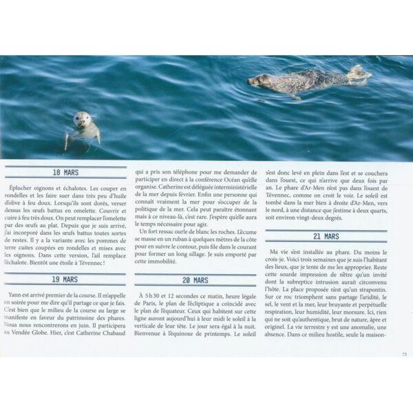 exemple de page, livre lumiere sur tevennec, Marc Pointud