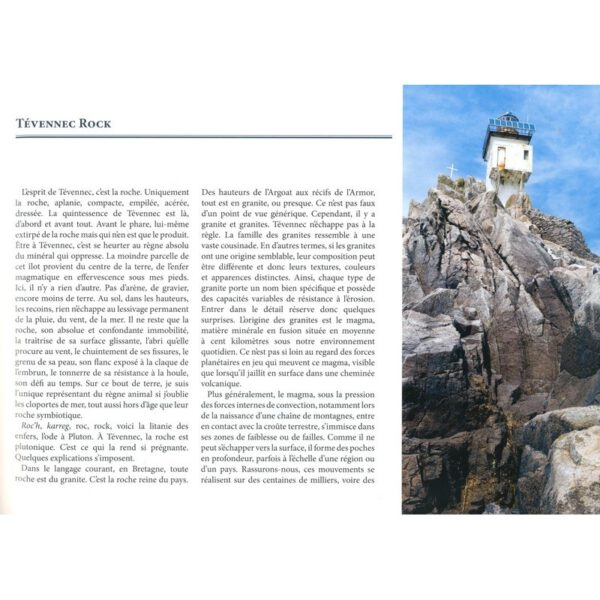 Autre exemple de page, livre lumiere sur tevennec, Marc Pointud
