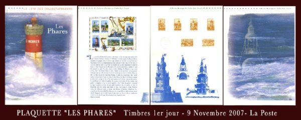 timbre-plaquette-premier-jour-phares