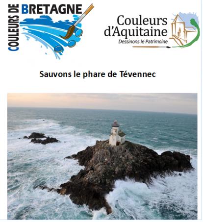 Opération sauvons le phare de Tévennec avec Couleurs de Bretagne